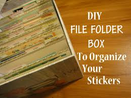 diy file folder box to organize your stickers youtube