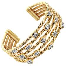 diamond bracelet cuff images David yurman diamond gold confetti wide cuff bracelet for sale at jpg