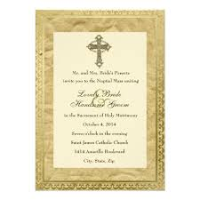 catholic wedding invitation vintage catholic cross wedding invitation zazzle