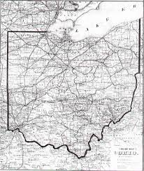 Map Ohio Counties the ohgenweb archives map directory