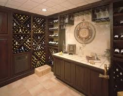 Wine Glass Storage Cabinet by Wine Storage Rack Feat L Shape Brown Wooden Bar Counter Table And