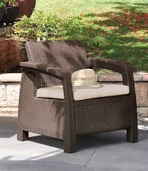 Outdoor Reading Chair Amazon Com Keter Corfu Armchair All Weather Outdoor Patio Garden