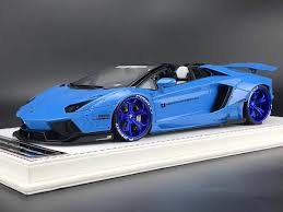chrome blue lamborghini aventador davis lb aventador roadster chrome blue