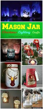 how to make mason jar lights with christmas lights diy christmas mason jar lighting craft ideas instructions