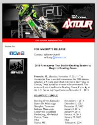 2015 pro motocross schedule 2016 national ax tour schedule direct motocross canada