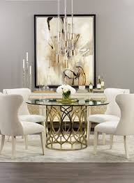 Dining Room Art Ideas Modern Glamour Soft Timeless Colors Get A Contemporary Spin In