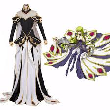 halloween stores in panama city fl japanese anime code geass c c cosplay costume gorgerous queen