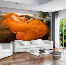 3d wall murals flaming june photo wallpaper world famous painting