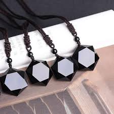 natural stone necklace wholesale images Black obsidian natural stone necklace pendant shakti supply jpg