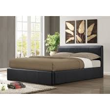 Ottoman Faux Leather Bed Brown Storage Faux Leather Bed Product Code Ottb46brn