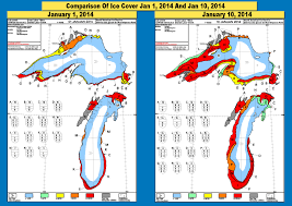 Lake Michigan Depth Map by Ice Cover On The Great Lakes Is Rapidly Growing Due To Polar