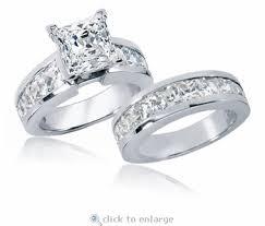 princess cut cubic zirconia wedding sets 2 5 carat princess cut channel set cubic zirconia bridal wedding set