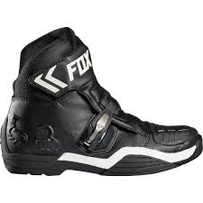 road motorbike boots fox racing new bomber ce ankle road racing short low cut black