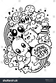 happy halloween vector group happy doodle monster drawing stylesuitable stock vector