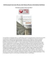 pdf download university physics with modern physics 12th edition fu u2026