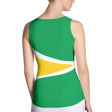 Guyana Flag Guyana Flag Women U0027s Fitted Tank Top Properttees