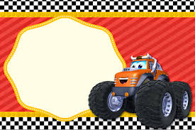 monster truck invitation chuck and his friends free printable invitations is it for