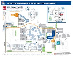 Pierce College Map Trailer Drop Off And Storage Map Svsu By Saginaw Valley State