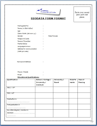 resume format doc for freshers 12th pass student job biodata format for job application download sle biodata form