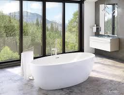 voce 55 inch acrylic ended freestanding bathtub
