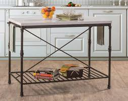 hillsdale castille metal kitchen island textured black white