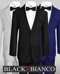 wedding suits boys wedding suits w a colored slim bow tie black n bianco