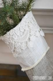 sew linen burlap christmas stockings anthropologie inspired