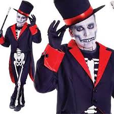 James Bond Costume Halloween Bone Jangles Mens Skeleton Halloween Fancy Dress James Bond