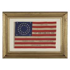 New York Flag Jeff Bridgman Antique Flags And Painted Furniture 35 Stars In A