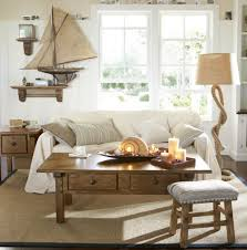 Floor Lamp Living Room Nautical Living Room Decorated With Seashell And Candles Also