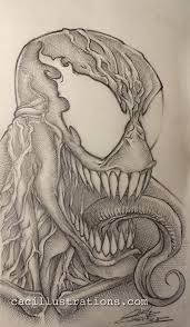 venom sketch cac illustrations