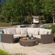 shop best selling home decor milano 5 piece wicker patio