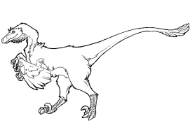 raptor dinosaur coloring free printable coloring pages