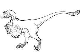 raptor dinosaur coloring free printable coloring pages