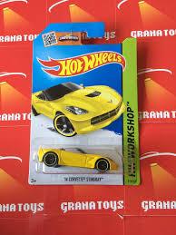 hotwheels corvette 14 corvette stingray 216 yellow wheels 2015 m grana toys