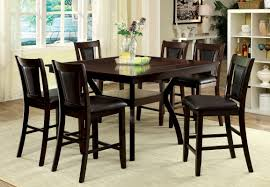 7 pc dining room sets furniture of america dark cherry darcie 7 piece wood counter
