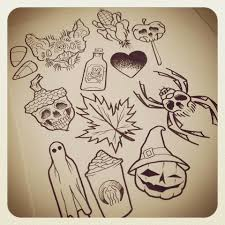 image result for halloween themed tattoo flash tattoos