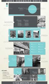 12 page brochure template clean modern 12 page brochure brochures font logo and annual