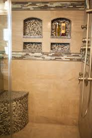 Master Shower Ideas by Shower Remodel With Arched Niches Collins Tile And Stone