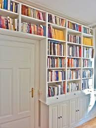 Crown Molding Bookshelf Built In Bookshelves And Desk Using Ikea Hemnes With Crown Molding