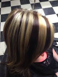 blonde hair with chunky highlights brown hair with thick blonde highlights brown hairs