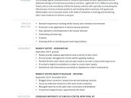 makeup artist resume template resume of an artist makeup artist resume sle experience artist