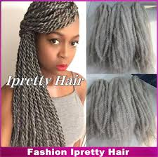 grey marley braiding hair stock 20 fold gray afro kinky twists synthetic braiding hair
