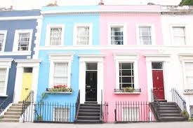 a a style on the pastel streets of notting hill