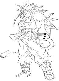 dragon ball z goku super saiyan 4 coloring pages printable of goku