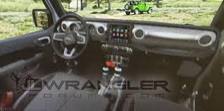 2018 jeep wrangler interior fully revealed 2018 jeep wrangler interior revealed in leaked images
