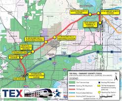 Dallas Love Field Map Commuter Rail From Fort Worth To Dfw Airport On Track For Late
