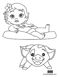 moana printables baby free cartoon coloring pages things to