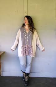 Shabby Chic Plus Size Clothing by Upcycled Hoodie Recycled Hoodie Eco Fashion Clothing Shabby Chic