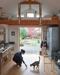 garage conversion into tiny house michelle vega small single car garage converted into tiny house with sleeping loft
